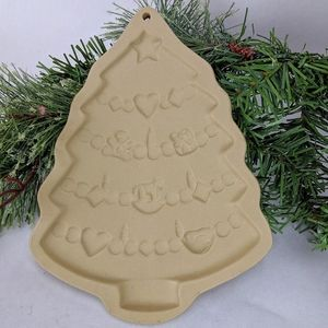 Vintage Brown Bag Cookie Art Christmas Tree Mold